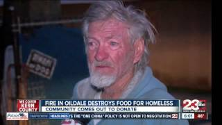 Fire in Oildale destroys foods for Homeless