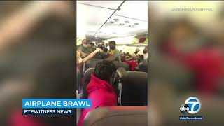 Passengers brawl on plane leaving Las Vegas   ABC7