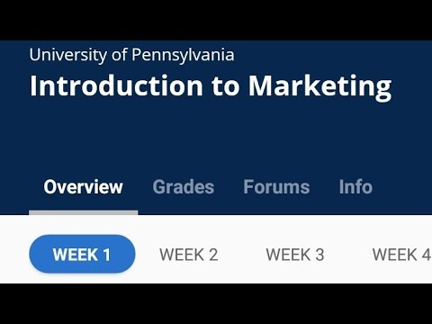 Introduction to marketing Coursera week 1 quiz answers - YouTube