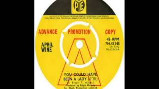 April Wine - You Could've Been A Lady (1974)