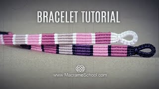 Striped Macramé Bracelet Tutorial By Macrame School