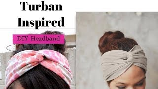 DIY Headband Out Of T Shirt - Turban Inspired Headbands