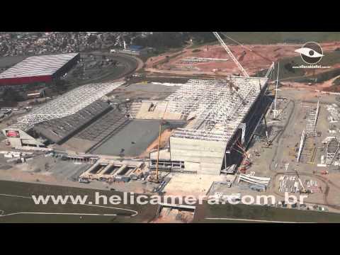 Vídeo Aéreo da Arena Corinthians - 09/05/2013