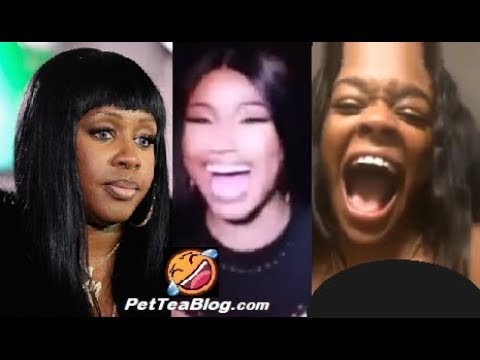 Nicki Minaj Reacts to Azealia Banks & Remy Ma by Laughing like this 🤣