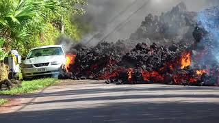 Metal Fence Can't Stop Lava from Hawaii's Kilauea Volcano