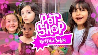 O pet shop da Sofia na casa da Tia Dani