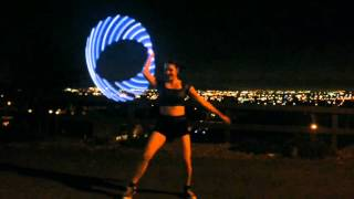 Pixie Flow Arts ODESZA Always This Late LED Hula Hoop Flow Performance