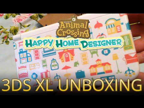 Unboxing the Animal Crossing: Happy Home Designer New 3DS XL System!
