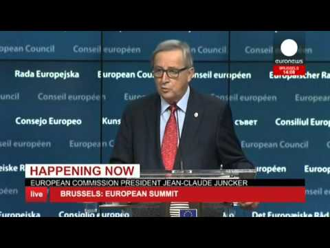 EU Summit: Juncker, Tusk & Luxembourg PM speeches - Live