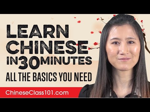 Learn Chinese in 30 Minutes - ALL the Basics You Need - YouTube