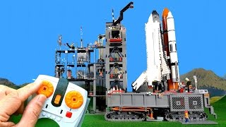 COUNTDOWN And LIFTOFF Of Huge Lego Space Shuttle