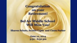 preview picture of video 'Bel Air Middle School Retirements -  June 10, 2014'