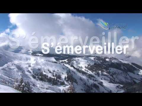 Direction l'Espace Diamant à Val d'Arly