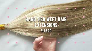 New Plush Hidden Hair Hand Tied Weft Extensions