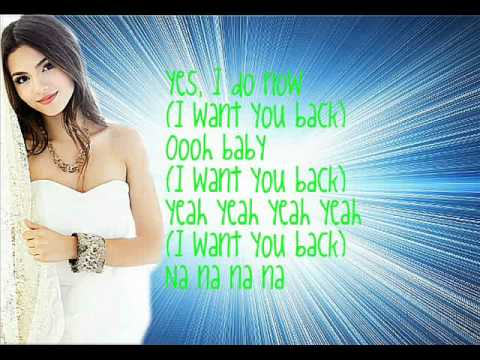 Victoria Justice & Victorious Cast - I Want You Back Lyrics