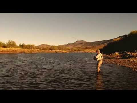 Jorge Trucco dry-fly fishing on the Malleo River in Patagonia, Argentina (March of 2013).
