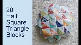 20 Half Square Triangle Blocks