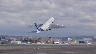 Dernier Vol De L'Airbus A380 MSN4 F WWDD Vers Le Musée De L'Air Et De L'Espace