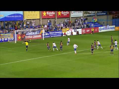Resumen de UE Llagostera (6-2) Real Zaragoza