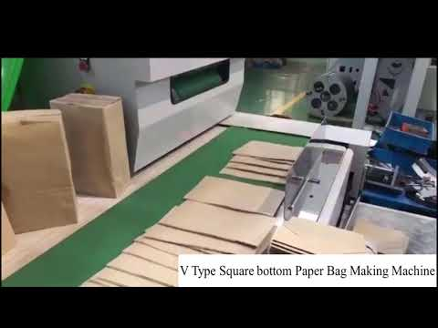 Paper Carry Bag (V Type )Making Machine