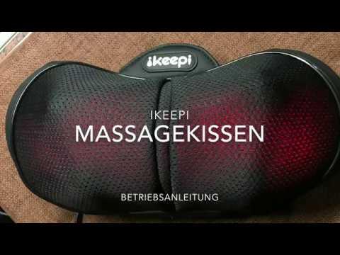 Ikeepi Massagekissen Shiatsu Massagegerät für Nacken Schultern Rücken... Produkt Test und Anleitung