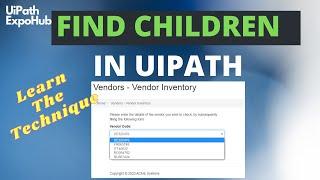 Find Children in UiPath