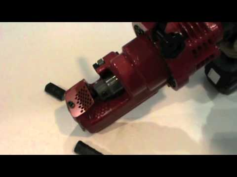 Ogura ORC-19DF Cordless Rebar Cutter Demonstration