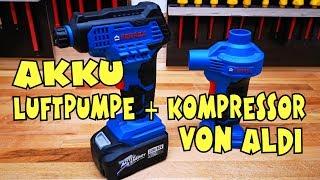 Aldi - Ferrex 20V Li-Ion Akku Luft und Volumenpumpe - Handkompressor