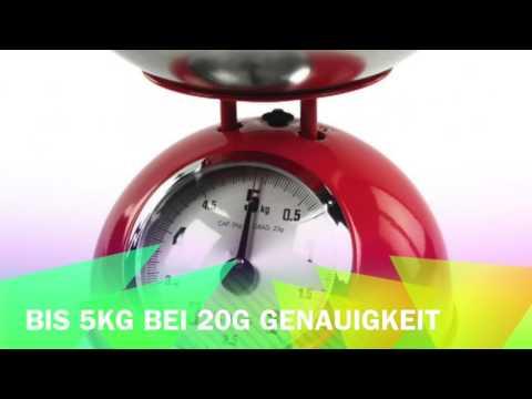 Retro Küchenwaage von König in 3 verschiedenen Farben: Rot, Schwarz oder Beige www.retrostore24.com