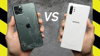 Apple iPhone 11 Pro Max vs Samsung Galaxy Note10+ Drop Test
