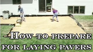 How to prepare for laying pavers - Video Youtube