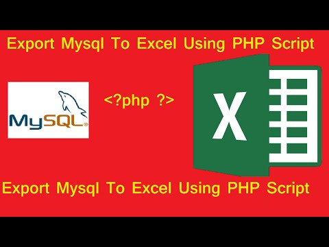 export mysql database to excel in php