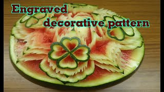 #27 Carved Patterns On Watermelon, New Patterns | Carving Fruits | Art & Entertainment