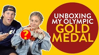 UNBOXING my Olympic GOLD Medal   Shawn Johnson