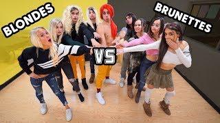 BLONDES VS BRUNETTES CHALLENGE!