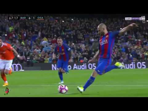 برشلونة يسحق اوساسونا بسباعية و ماسكيرانو يسجل للمرة الاولى (فيديو)