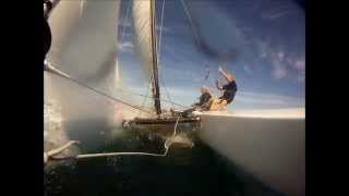 Fast Sailing On A Chrysler Musketeer Catamaran