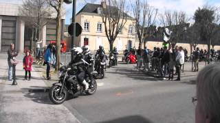 preview picture of video 'départ ballade moto chateau gontier 16/03/2014'