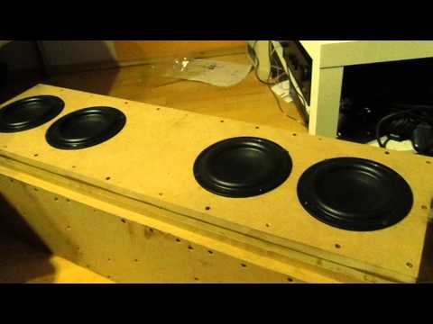 """Tang Band 4 6,5"""" 16 cm Subwoofer in Action Bass Test"""