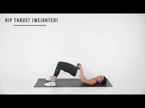 Weighted floor Hip thrust
