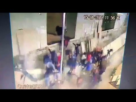 Watch: Shocking moment of floor collapse at Jakarta Stock Exchange