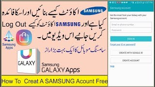 Hindi-हिन्दी ] How To Create Samsung Account Step By