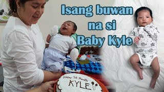 1ST MONTH CELEBRATION NI BABY KYLE | SHERYL G. BORDEOS