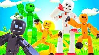 Забавные мультики про веселых игрушечных человечков Стикботов