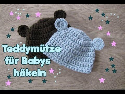 Bärchen-Mütze, Babymütze in zwei Größen (auch schriftl.)