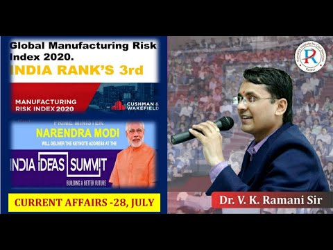 INDIA IDEAS SUMMIT - USIBC   GLOBAL MANUFACTURING RISK INDEX -2020   CURRENT AFFAIRS 28 JULY 2020  