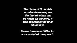Oasis   Columbia Demo (Sample 1: Intro Speech)