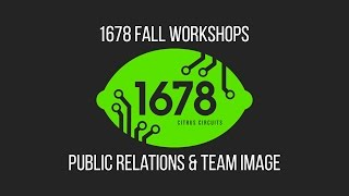 2016 Fall Workshops - Public Relations and Team Image