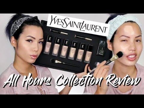 FULL COVERAGE 24HR MATTE FINISH? | YSL ALL HOURS COLLECTION REVIEW | PRIMER + FOUNDATION + CONCEALER
