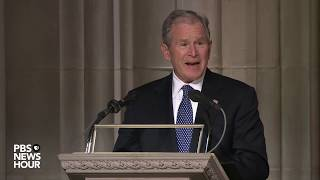 WATCH: George W. Bush pays tribute to his father